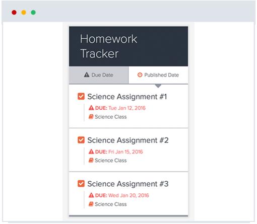 K-12 EdSpire Homework Tracker